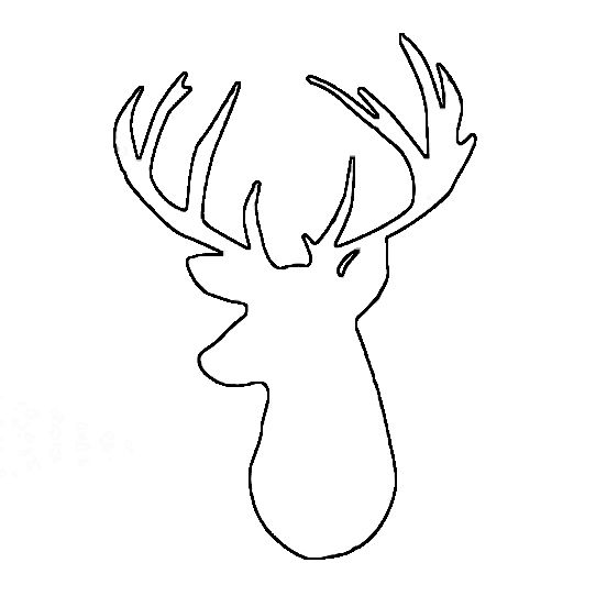 image relating to Printable Deer Head referred to as cd65962c8ddcbc4f70a1f3a17532c1c4-reindeer-silhouette-deer